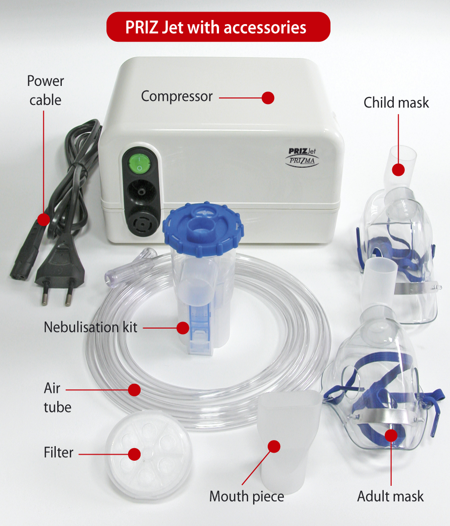 Inhalator Prizjet total accesories