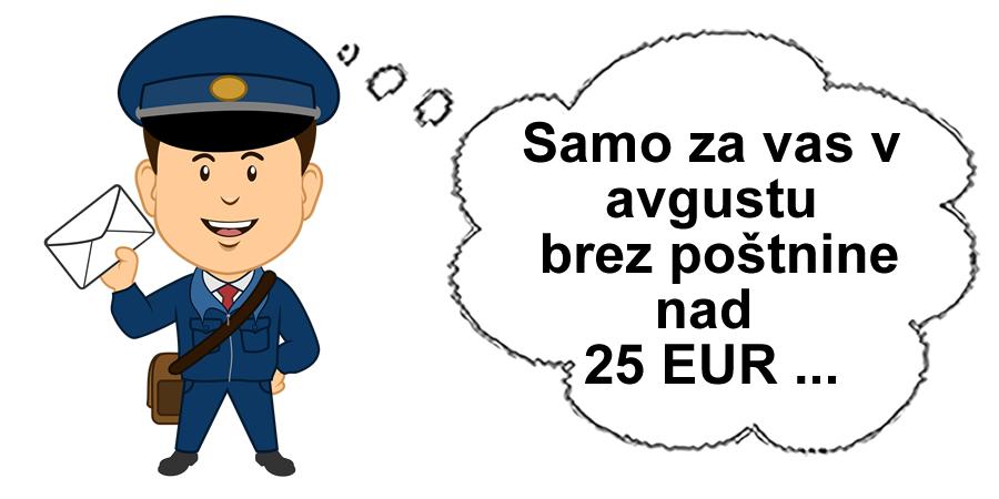 Poštnina zastonj v avgustu 2015