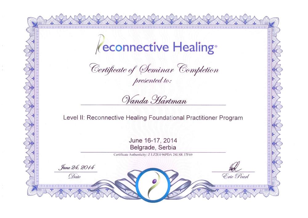 Vanda Hartman Reconnective healing Dr. Eric Perl