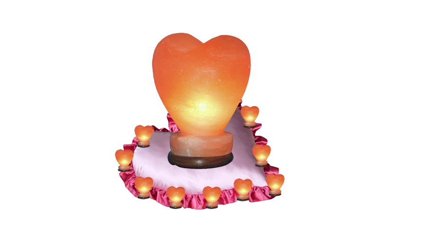Solna lučka srce za Valentinovo