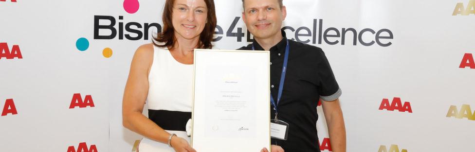 S ponosom prejeli certifikat najviše poslovne odličnosti zlati AAA za leto 2018