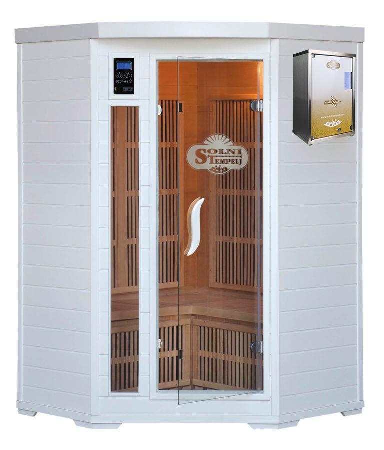 Kvalitetne solne terapije s solno infra kabino Home Deluxe 2-3P in najnovejšo verzijo halogeneratorja Multisalt+